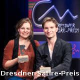 Erik Lehmann Fee Badenius Dresdner Satire-Preis - © Kabarett Breschke und Schuch