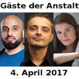 Gäste der Anstalt April 2017 Abdelkarim Maurer Brugger - © Guido Schröder Lukas Beck Jessica Wirth