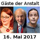 Gäste der Anstalt Mai 2017 Hartmann Rating Weber - © Marc Gettmann Thomas Raese Inka Meyer