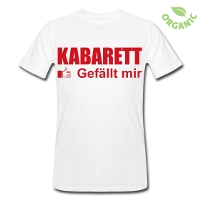 'Kabarett gefällt mir' Herren T-Shirt - jetzt im Kabarett-Fanshop bestellen
