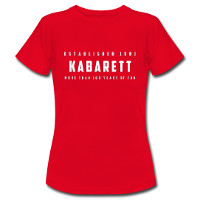 Damen T-Shirt 'Kabarett established 1901' - jetzt im Kabarett-Fanshop bestellen